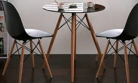 Set of 2 Eames Style Side Chairs from Groupy