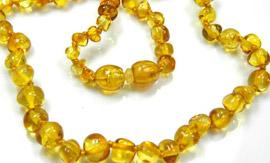 Amber Bead Necklace from Yazoom