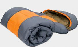Sleeping Bag with Storage Sack from Groupy