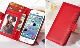 PU Leather iPhone Wallet Case from Yazoom